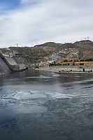 Grand Coulee Dam Panorama. Composite 3 of 7 images taken with a Nikon D700 camera and 35 mm f/1.4 mm lens (ISO 200, 18 mm, f/11, 1/1000 sec). Raw images processed with Capture One Pro and the panorama created using AutoPano Pro.