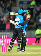 Worcestershire win the Vitality Blast - Ben Cox of Worcestershire is hugged by Ed Barnard of Worcestershire  after scoring the winning runs to win the Vitality Blast for Worcestershire during the final of the Vitality T20 Finals Day 2018 match between Worcestershire Rapids and Sussex Sharks at Edgbaston, Birmingham, United Kingdom on 15 September 2018.