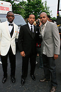 """l to r; Chaka Zulu, Chris """"Ludacris' Bridges and D-Nice at The Ludacris Foundation 5th Annual Benefit Dinner & Casino Night sponsored by Alize, held at The Foundry at Puritan Mill in Atlanta, Ga on May 15, 2008.. Chris """"Ludacris"""" Bridges, William Engram and Chaka Zulu were the inspiration for the development of The Ludacris Foundation (TLF). The foundation is based on the principles Ludacris learned at an early age: self-esteem, spirituality, communication, education, leadership, goal setting, physical activity and community service. Officially established in December of 2001, The Ludacris Foundation was created to make a difference in the lives of youth. These men have illustrated their deep-rooted tradition of community service, which has broadened with their celebrity status. The Ludacris Foundation is committed to helping youth help themselves."""