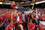 Utah fans have some fun during the Emerald Bowl in San Francisco, California.