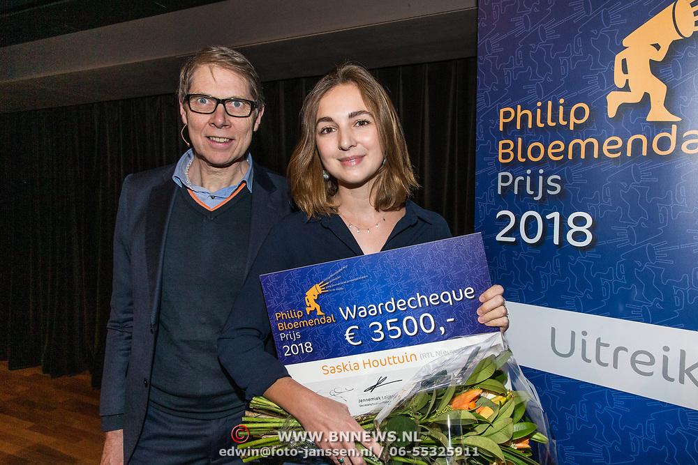 NLD/Hilversum/20181213 - Uitreiking Philip Bloemendal Prijs 2018, Saskia Houttuin en Wim Daniëls
