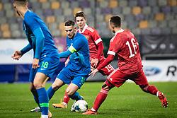 Timi Max Elsnik of Slovenia  during football match between U21 Slovenia national team and U21 Russia national team in a frienly football match, on November 17, 2020 in Ljudski Vrt, Maribor, Slovenia. Photo by Blaž Weindorfer / Sportida