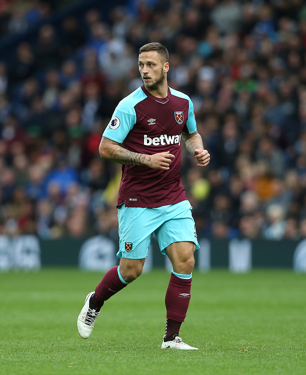 West Ham United's Marko Arnautovic<br /> <br /> Photographer Rob Newell/CameraSport<br /> <br /> The Premier League - West Bromwich Albion v West Ham United - Saturday 16th September 2017 - The Hawthorns - West Bromwich<br /> <br /> World Copyright © 2017 CameraSport. All rights reserved. 43 Linden Ave. Countesthorpe. Leicester. England. LE8 5PG - Tel: +44 (0) 116 277 4147 - admin@camerasport.com - www.camerasport.com
