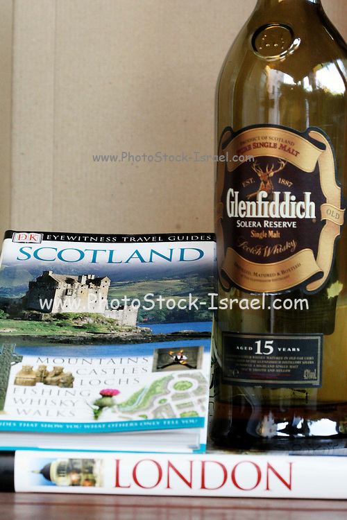 conceptual image of travel to London and Scotland