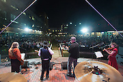The Lede (the News & Observer) performing at the corporate Battle of the Bands at the American Tobacco campus in Durham, North Carolina on September 22, 2012