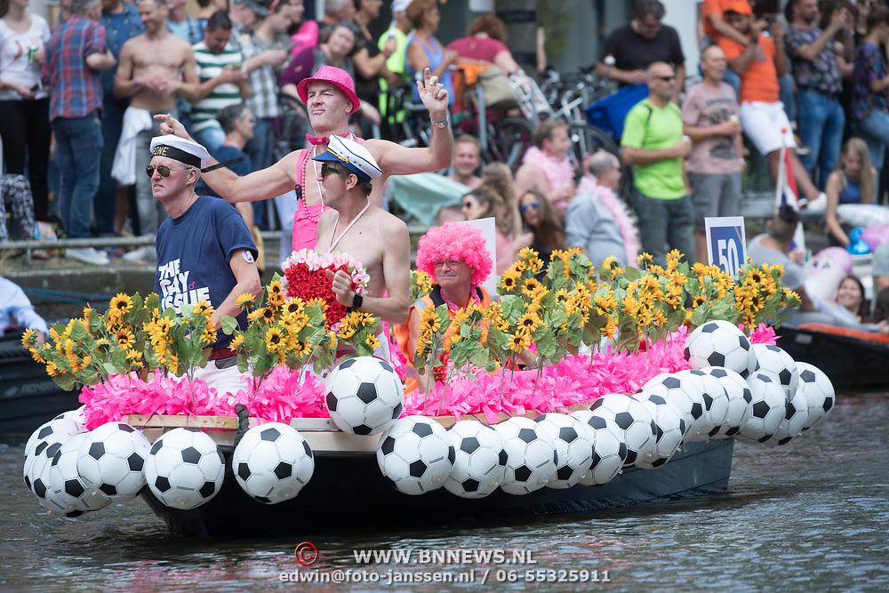 NLD/Amsterdam//20170805 - Gay Pride 2017, Boot Henk Dal