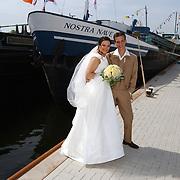 Huwelijk schippersechtpaar van 't Veen -van der Huls haven Huizen