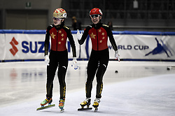 February 8, 2019 - Torino, Italia - Foto LaPresse/Nicolò Campo .8/02/2019 Torino (Italia) .Sport.ISU World Cup Short Track Torino - Mixed Gender Relay Heats.Nella foto: Yihan Guo, Jialong Tian..Photo LaPresse/Nicolò Campo .February 8, 2019 Turin (Italy) .Sport.ISU World Cup Short Track Turin - Mixed Gender Relay Heats .In the picture: Yihan Guo, Jialong Tian (Credit Image: © Nicolò Campo/Lapresse via ZUMA Press)