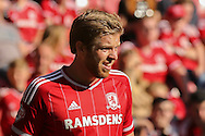 Middlesbrough midfielder Adam Clayton during the Sky Bet Championship match between Middlesbrough and Leeds United at the Riverside Stadium, Middlesbrough, England on 27 September 2015. Photo by Simon Davies.