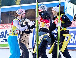 06.02.2011, Heini Klopfer Skiflugschanze, Oberstdorf, GER, FIS World Cup, Ski Jumping, Teamwettbewerb, Finale, im Bild Martin Koch (AUT)  Thomas Morgenstern (AUT) Gregor Schlierenzauer (AUT) und Andreas Kofler (AUT) , during ski jump at the ski jumping world cup Trail round in Oberstdorf, Germany on 06/02/2011, EXPA Pictures © 2011, PhotoCredit: EXPA/ P. Rinderer
