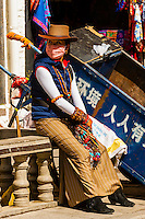 Back streets of Old Lhasa, Tibet (Xizang), China.