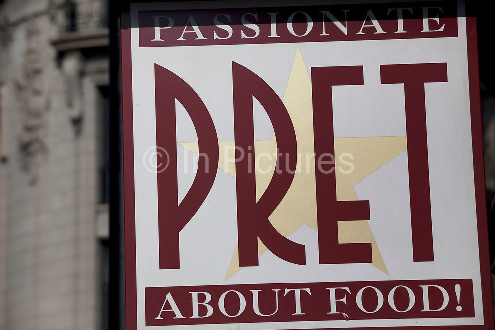 Sign for food chain Pret a Manger.
