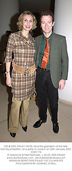 MR & MRS ASHLEY HICKS, he is the grandson of the late Earl Mountbatten, at a party in London on 25th January 2002.	OWX 176
