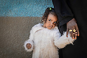 A shy nubian girl with her grandmother, Heisa Island