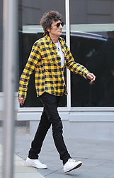 Ronnie Wood of The Rolling Stones turns up at the Manchester hotel on Sunday evening ahead of the gig at Old Trafford Football Stadium on Tuesday