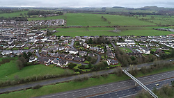 File photo dated 20/12/18 of an aerial view of the area of Lockerbie where 30 years ago a PanAm Boeing 747 crashed into the town after a bomb was detonated on board.