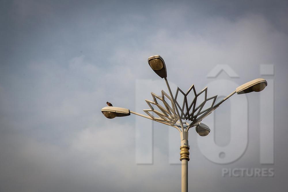 Ornate street lamp, Putrajaya, Malaysia, Southeast Asia
