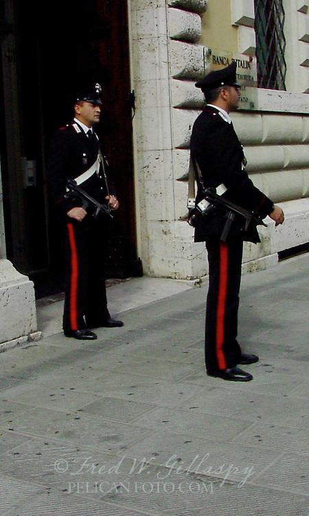 Carabinieri at Banca Italia