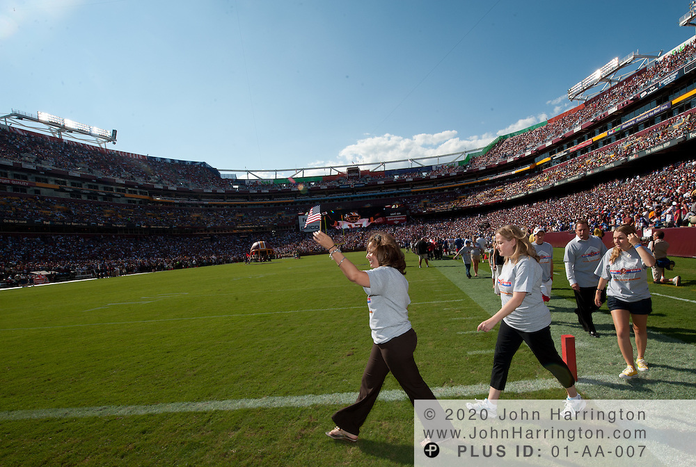 Osh Kosh at the Redskins game with TAPS, September 11, 2011.