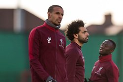 LIVERPOOL, ENGLAND - Monday, February 18, 2019: Liverpool's Joel Matip, Mohamed Salah and Naby Keita during a training session at Melwood ahead of the UEFA Champions League Round of 16 1st Leg match between Liverpool FC and FC Bayern München. (Pic by Paul Greenwood/Propaganda)