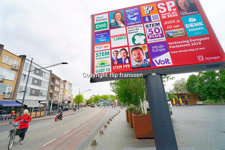 Nederland, Nijmegen, 16-5-2019 Campagne voor de verkiezingen voor het europees parlement . Foto: Flip Franssen