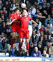 Photo: Mark Stephenson.<br /> Birmingham City v Coventry City. Coca Cola Championship. 01/04/2007.Coventry's Colin Hawkins (F) trys to win the ball