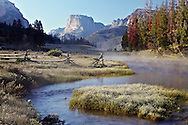 Morning frost at the Green River in the Wind River Mountains.