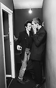 The Clash Paul Simonon and Topper  backstage at the London Lyceum 1981