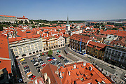 Blick auf die Die Prager Kleinseite (Malá Strana) mit dem Kleinseitner Ring (Malostranské nám.).<br /> <br /> View to Malá Strana (Lesser Town) and Malostranske Namesti (Lesser Town Square) in the city centre of Prague.