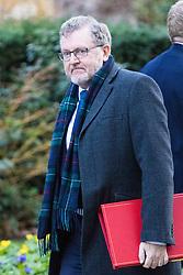 London, January 16 2018. Scotland Secretary David Mundell attends the UK cabinet meeting at Downing Street. © Paul Davey