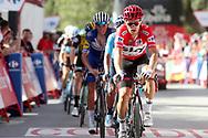 Michal Kwiatkowski (POL - Team Sky) Red Jersey, during the UCI World Tour, Tour of Spain (Vuelta) 2018, Stage 4, Velez Malaga - Alfacar Sierra de la Alfaguara 161,4 km in Spain, on August 28th, 2018 - Photo Luis Angel Gomez / BettiniPhoto / ProSportsImages / DPPI