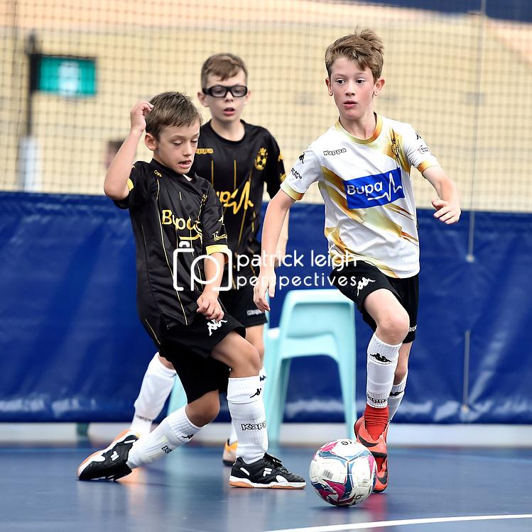 BRISBANE, AUSTRALIA - NOVEMBER 14:  during the QLD Futsal Junior Superliga match between Elitefoot u10 White and Elitefoot u10 Black at Anna Meares Veladrome on November 14, 2020 in Brisbane, Australia. (Photo by Patrick Kearney)