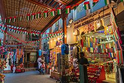 View of stalls at Dubai Souk inn Dubai, united Arab Emirates