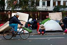 France: Refugees camp dismantlement in Paris, 31 Oct. 2016
