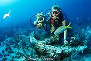 old Spanish anchor, Key Largo, Florida Keys National Marine Sanctuary, Florida ( Western Atlantic Ocean )  <br /> MR 70, MR 71