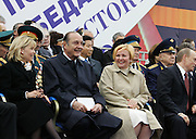 Moscow, Russia, 09/05/2005..French President Jaques Chirac at the military parade in Red Sqaure marking the 60th anniversary of victory in the Great Patriotic War.
