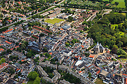 Nederland, Overijssel, Almelo, 30-06-2011; centrum met Grote Kerk en de Georgiuskerk ('de Sjors') met links daarvan de buurt Westeres..View on the city of Almelo..luchtfoto (toeslag), aerial photo (additional fee required).copyright foto/photo Siebe Swart
