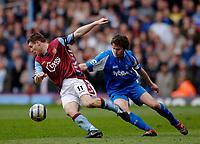 Photo: Glyn Thomas.<br />Aston Villa v Birmingham City. The Barclays Premiership. 16/04/2006.<br /> Aston Villa's James Milner (L) and Birmingham's Matthew Sadler.