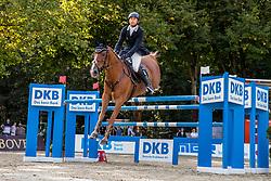 SCHOBER Philipp (GER), Guesssina<br /> - Stechen -<br /> Großer Preis der Deutschen Kreditbank AG (CSI2*)<br /> Springprüfung mit Stechen, international<br /> Höhe: 1,45m<br /> Paderborn - OWL Paderborn Challenge 2020<br /> 13. September2020<br /> © www.sportfotos-lafrentz.de/Stefan Lafrentz