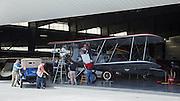 Crew preparing the Boeing Model 40 from WAAAM.