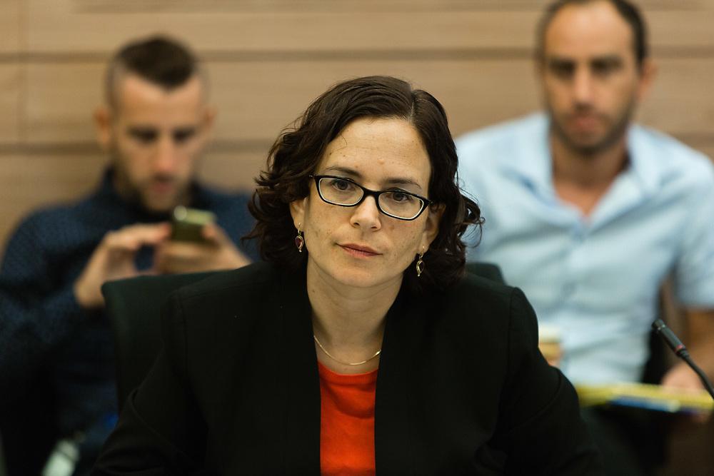 Israeli lawmaker, Knesset Member Rachel Azaria at the Knesset, Israel's parliament in Jerusalem on September 20, 2015.