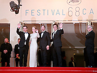 The cast of Sicario at its gala screening for the film at the 68th Cannes Film Festival, Tuesday May 19th 2015, Cannes, France.