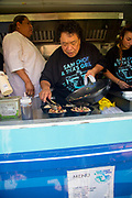 Sam Choy, Poke, Food Truck, Hukilau Marketplace. Polynesian Cultural Center, Laie, Oahu, Hawaii