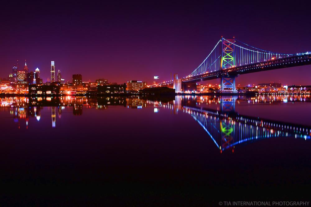 Philadelphia Skyline & Benjamin Franklin Bridge