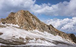 THEMENBILD - Blick auf dem Gletscher im Sommer, aufgenommen am 13. August 2018 in Kaprun, Österreich // the Glacier in summer, Kaprun, Austria on 2018/08/13. EXPA Pictures © 2018, PhotoCredit: EXPA/ JFK