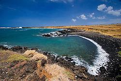 Unnamed black pebble beach, South Point, Big Island, Hawaii