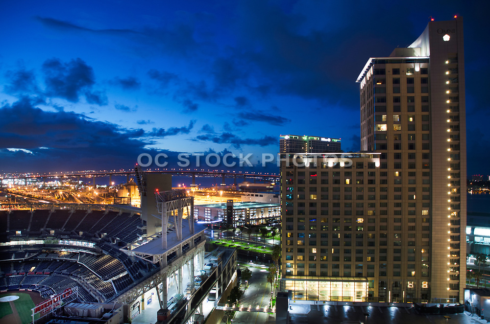 Petco Park and Omni Hotel Downtown San Diego