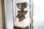 David's Menorah sculpture (by David Soussanna) in the Israeli Knesset, Jerusalem, Israel