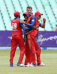Dwaine Pretorius of the Bizhub Highveld Lions during the T20 Challenge cricket match between the Lions and the Warriors at the Kingsmead stadium in Durban, KwaZulu Natal, South Africa on the 4th December 2016<br /> <br /> Photo by:   Steve Haag / Real Time Images