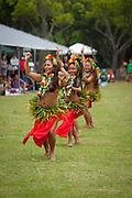 Tahitian Dancers, Kualoa Park, Kaneohe, Oahu, Hawaii